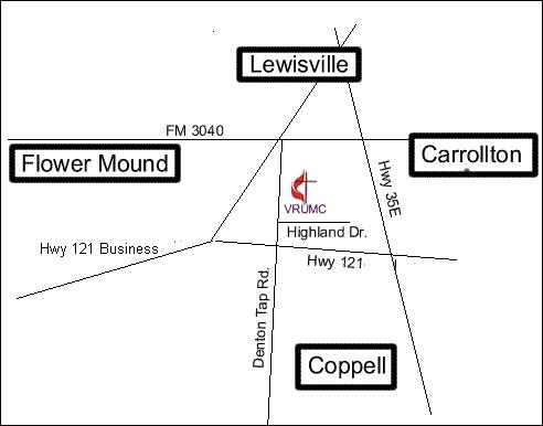 map to Vista Ridge UMC